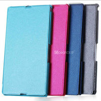 Customizable pu leather flip case for sony xperia z1\ 2013 new products for phone accessories