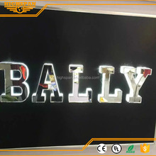 advertising lighting board LED 3D logo letter acrylic channel letter with half side lit