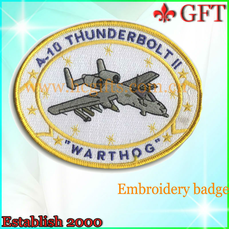 A10 thunderbolt warthog airforce uniform woven embroidery patch