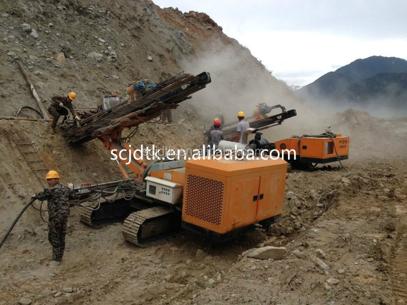 all hydraulic slope crawler mounted mobile DTH crawler drilling rigs for sale YGL-100A/C