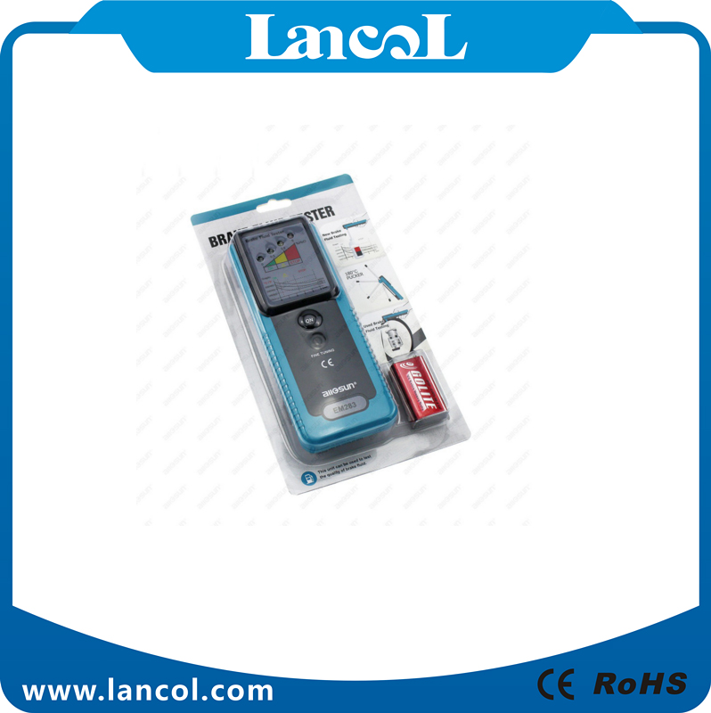 Handheld Auto Car Brake Fluid Tester testing oil with LED 180 Degree Pucker in buzzer