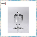 High quality modern clear glass candy jar gift with lids