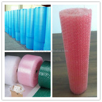 cheap colored plastic air bubble film roll, bubble sheet
