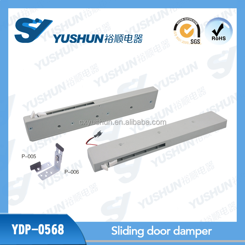 Auto light sliding door damper for wardrobe interior fittings