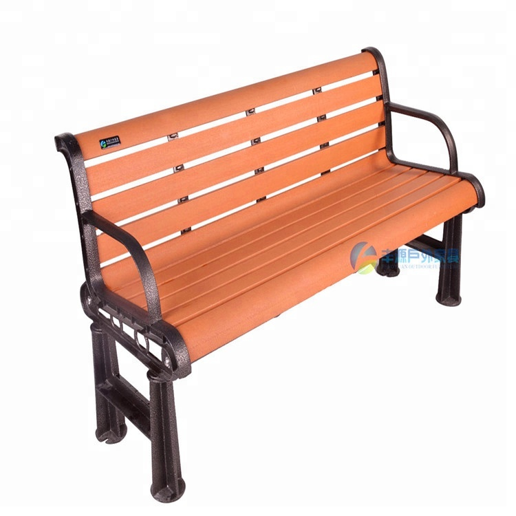 Chinese Cheap Plastic Park Bench Ends With Metal Leg Park Bench Size