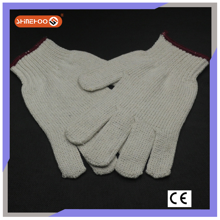 SHINEHOO 100% Cotton Hosiery Hand Gloves For Handicap