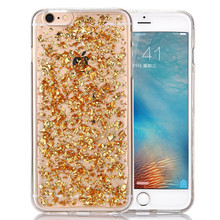 Bling Foil Flake TPU Gel Mobile Phone Case Cover For IPhone 5 6 7 8 X