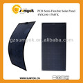 Chinese 100W SUNPOWER solar cell made semi-flexible solar module cheap price