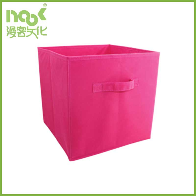 Non Woven Foldable Fabric Drawer organizer Storage Box with handle