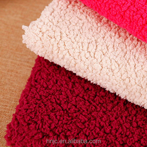 Solid color sherpa fleece fabric for garments