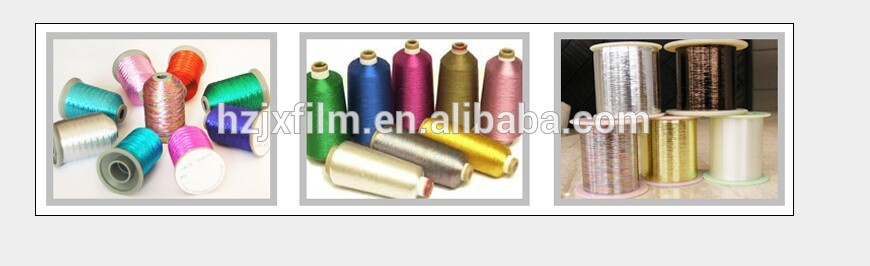 Metallic PET film with yarn grade