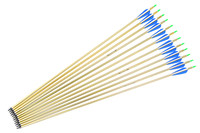 Aluminum Arrows Turkey feather for 20-50lbs Longbow Recurve Bow Hunting Archery for 80cm Length with High Quality