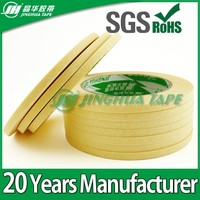 made in China yellow color 8 hours holding power paint masking adhesive silicone rubber tape