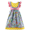 Baby Girl Princess Dress Children Frocks Designs Baby Kid Dress Boutique Printed Toddler Clothes