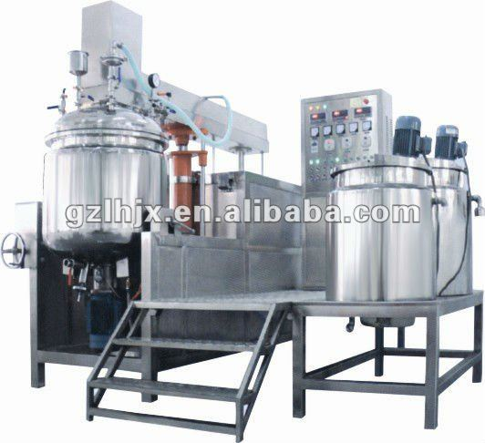 Titling Vacuum Homogenizing Emulsifier Face cream/body lotion Making Machine, Toothpaste production line