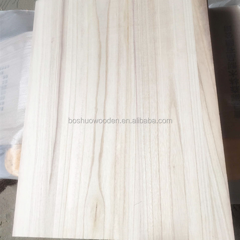 Environmental s4s solid wood boards curved wooden for stairs wholesale paulownia wood