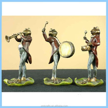 Resin European Frog Music Model Decoration Statues, Resin Cute Frogs Use Musical Instruments Home Decorations