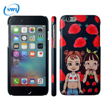 High Quality PC Sublimation Strawberries Design Case Cover For iPhone 6 6s 6 plus
