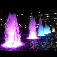 Colorful water feature ,cascade fountain