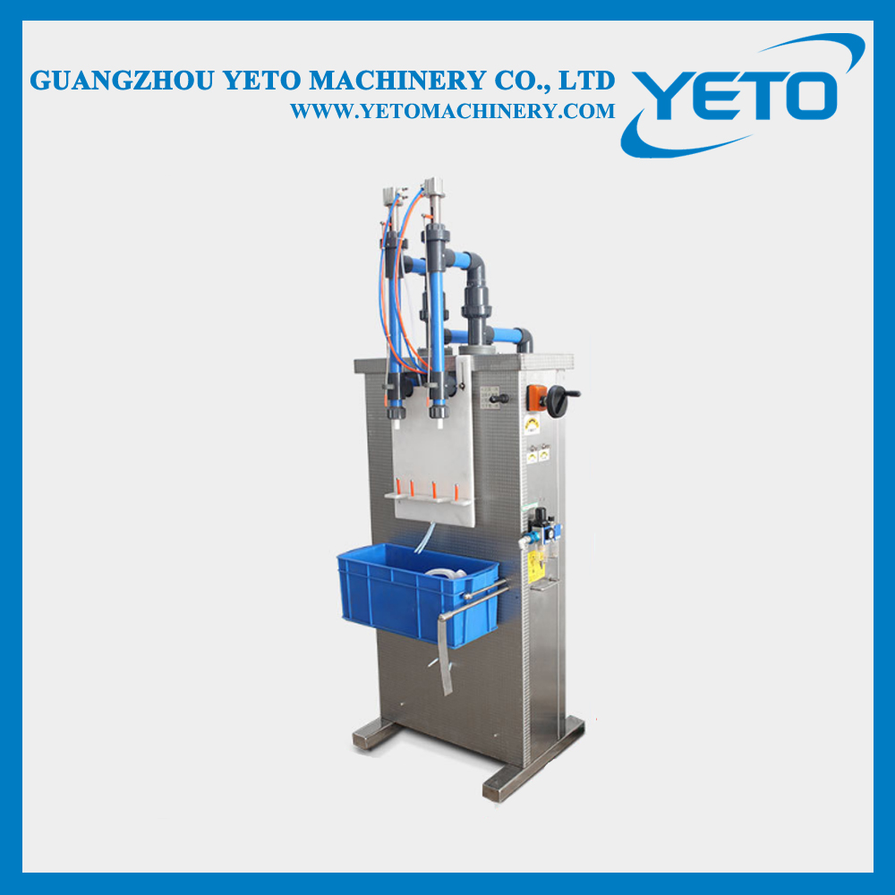 anti-corrosion Two filling heads corrosive detergent toilet cleaner filling machine