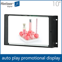Flintstone 10 inch tft lcd tv monitor ,lcd screen open frame player, 16:9, 4:5 lcd ad display