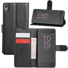 leather flip bumper case cover for sony xperia xa
