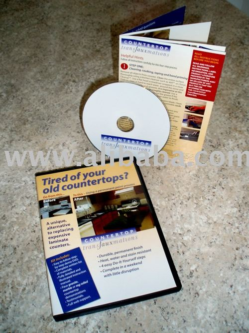 "Counter top refinishing DVD ""Countertop Transfauxmations"""