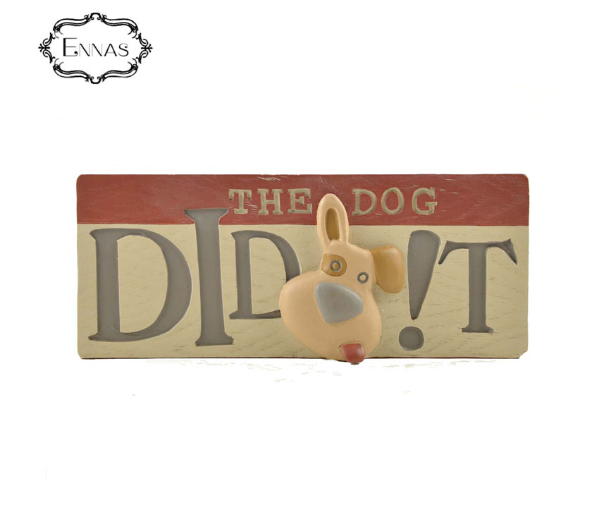 "Resin 3D dog bowl with words "" feed me "" home decor"