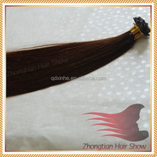 7A Grade Virgin Peruvian Hair Silky Straight U Tip Human Hair Extensions Nail Tip Hair Natural Black