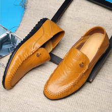 Wholesale loafers air permeability leather men party fashion shoes