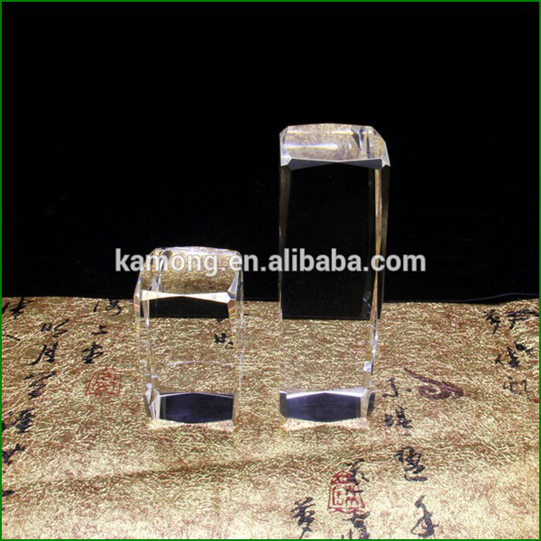 Factory Supply Blank K9 Crystal Cube, Crystal Glass Block for Engraving Souvenir Gifts