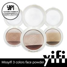 Private label cosmetics contour palette 3 concept face powder makeup foundation