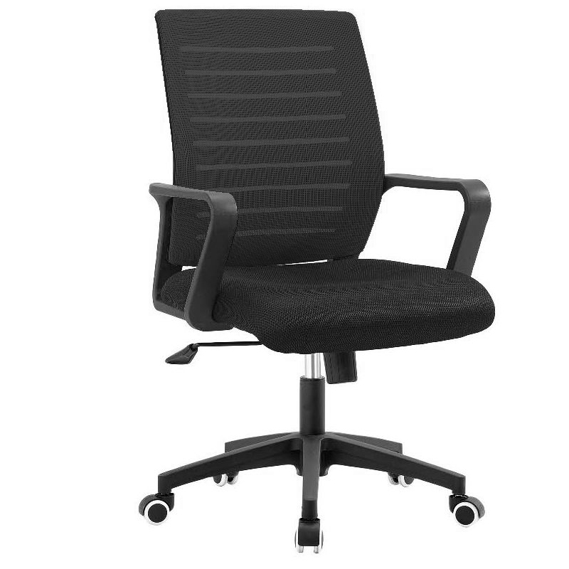 Swivel office wheel table chair with back mesh