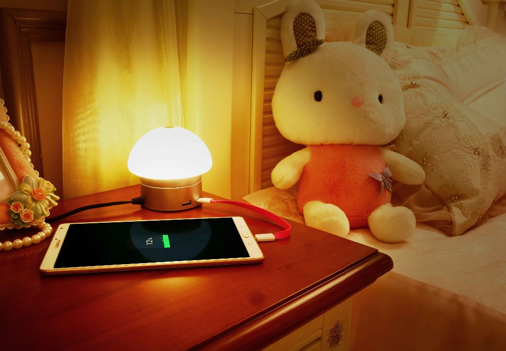 Flexible LED Lighting 6-port USB Hub Charger with Touch sensetive Bedside LED Lamp Touch USB LED Light