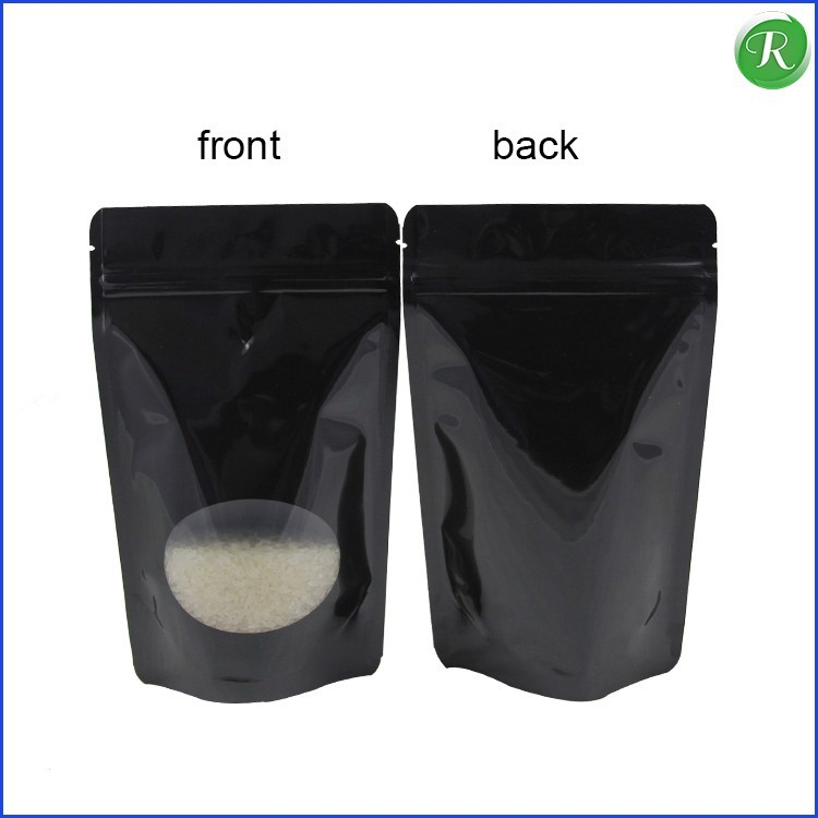 clear printed plastic resealable mylar zipper bag with hole