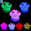 colourful mushroom shape vinyl light up toys, seven color ghost face led light toy, flowers led lighting toy for promotion