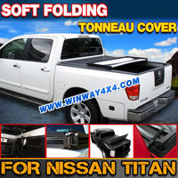NISSAN SOFT FOLDING PICKUP TRUCK BED TONNEAU COVER