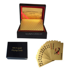 Business promotion gift 24k 999.9 Gold Playing Cards