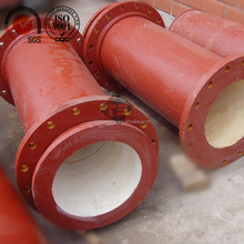 wear protection alumina ceramic lined pipe with different sizes