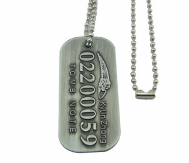 Cheap Custom metal made bulk id tag