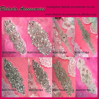 ^^Cheap wholesale rhinestone heat transfer embroidery neck lace trimming *- sewing neck lace trim