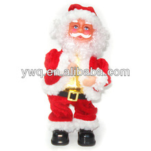 Mechanical santa claus with music Electrical santa standing santa clause outdoor
