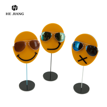Face shape 1 pc sunglasses display stand with customized logo