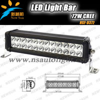 Double row 24 * 3W C REE Truck led light bar 10 inch LED Work Bar Light 72W Spot/Flood/Combo Beam driving light for Pickup 4WD