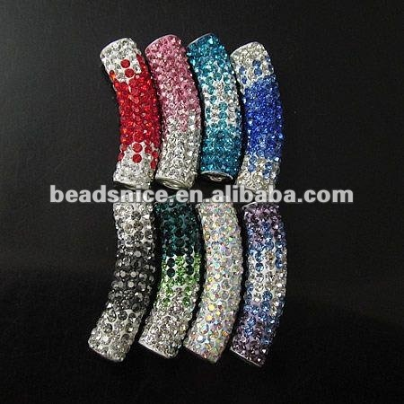 Beadsnice rhinestone earrings fashion jewelry pave crystal tube beads