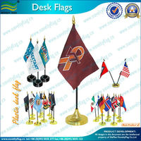 Table flag with plastic base and pole
