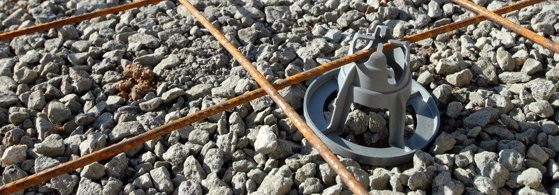 Spacer For Concrete Deck : Plastic rebar chair concrete bar