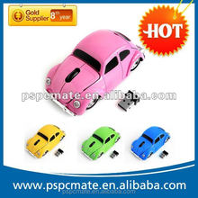 Factory price 2.4ghz wireless fashionable beetle car mouse Car VW Beetle Car Mouse