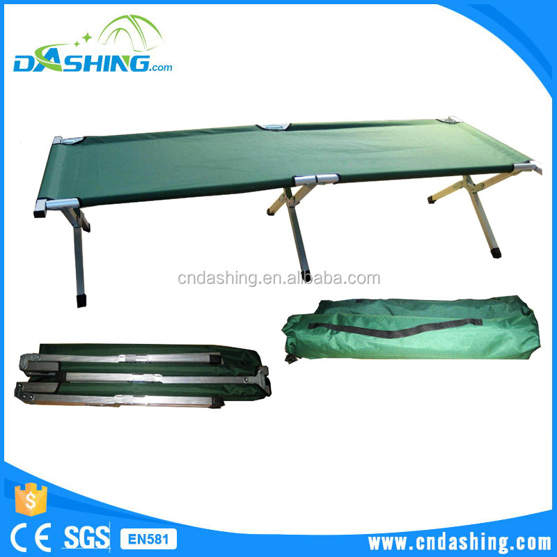 Folding adjustable Camping Outdoor Sleeping Cot Bed/portable comfortable camping military folding bed