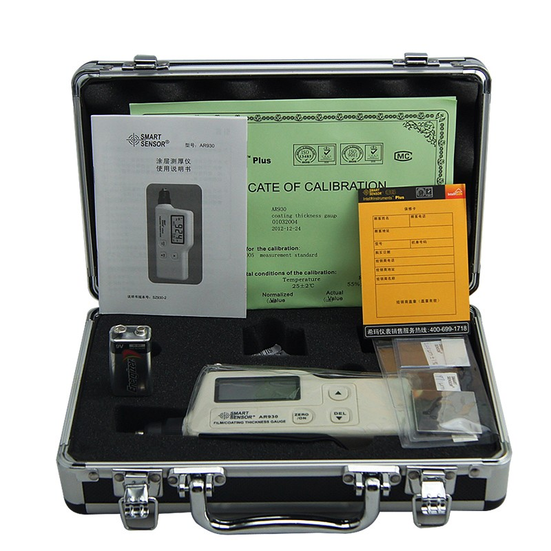 New Arrival 0 to 1800 um AS930 Film/ Coating <strong>Thickness</strong> Gauge with 15 Group Data Store